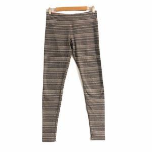 lululemon Wunder Under Leggings Grey White Stripe